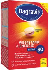 Dagravit Weerstand & Energie Totaal 30 - Multivitamine - Limoensmaak - 50 tabletten