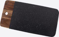 Zwarte Point-Virgule - Serveerplank - Voor borrelhapjes - Acaciahout & graniet - 35 x18 x1cm