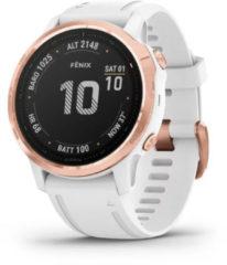 Roze Garmin - Fenix 6S Pro - Multifunctioneel horloge maat 20 mm, wit/pink
