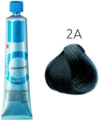 Blauwe GOLDWELL Colorance Farba do włosów 2A - ciemna popielata czerń 60 ml