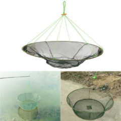 Meco ZANLURE Green Steel Wire & Nylon Foldable Fishing Net Prawns Shrimps Crabs Catching Landing Net