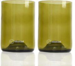 Rebottled Tumbler Drinkglas - Duurzaam - Amber- 2 stuks - 330 ml
