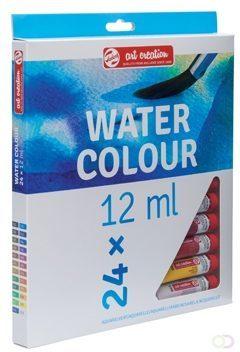 Afbeelding van Royal Talens Water Colour set 24 kleuren 12 ml tubes aquarel aquarelverf transparante waterverf