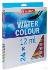 Royal Talens Water Colour set 24 kleuren 12 ml tubes aquarel aquarelverf transparante waterverf