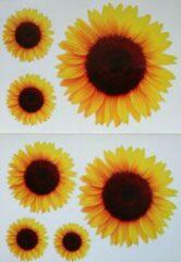Gele Zonnebloem sticker vel, decoratie stickers, kliko sticker, container stickers, CoverArt