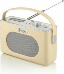Creme witte Swan Draagbare Retro Radio DAB+ - Creme - met Bluetooth