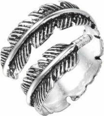 Amodi 24/7 Jewelry Collection Veer - Blad Ring Verstelbaar - Verstelbare Ring - Zilverkleurig