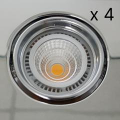 Verlichtingsset Sanimex Njoy 4 LED Spots 8x7 cm Chroom
