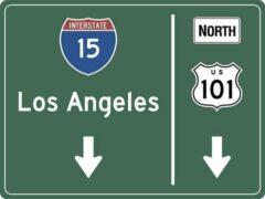 Groene Signs-USA Verkeersbord - Amerika - Los Angeles - Wandbord - 60 x 45 cm