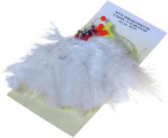 Albatros Verenpaternoster 6 Haaks - Onderlijnen - 115 cm Wit per stuk Zeevis 1/0