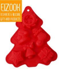 Koozie.eu Kerstboom vorm met figuurtjes | rood