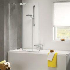 Douche Concurrent Badwand Sealskin Get Wet Custom 2 Delig Rechts 100x140cm Zilver Hoogglans Helder Glas