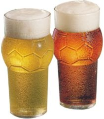 Transparante Durobor Drinkglazen Voetbalvorm 2 stuks – Bekers van Glaswerk – Geschikt voor in de Vaatwasser