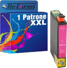 Tito-Express PlatinumSerie PlatinumSerie 1 Cartridge XXL (Magenta) Compatible voor Epson TE1813 Epson Expression Home XP-102 XP-202 XP-205 XP-30 XP-302 XP-305 XP-402 XP-405 XP-212 XP-312 XP-412 XP-415