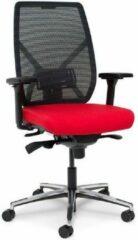 MR Actiflexx Bureaustoel Actiflexx Weave Arbo NPR 1813 | stof rood - rug zwart | voetenkruis aluminium incl. multifunctionele wielen