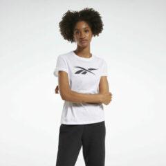 Witte Reebok Training Essentials Vector Graphic T-shirt