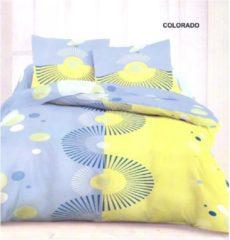 Blauwe Welterusten Luxe 100% KATOEN dekbedovertrek 260 x 240 met kussenslopen COLORADO