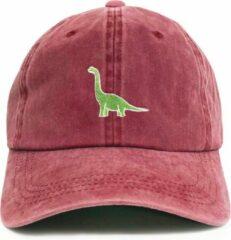 Dad Brand Dinosaur Cap - Premium One-Size Pet - Rood - Unisex - Baseball Cap