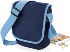 Reporter tasje blauw 23 x 17 cm - Mini schoudertas voor onderweg - Schoudertasje voor volwassenen
