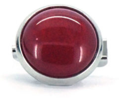 Qoss Broche Rode Steen - 12mm