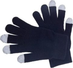 Merkloos / Sans marque Touchscreen handschoenen zwart voor volwassenen