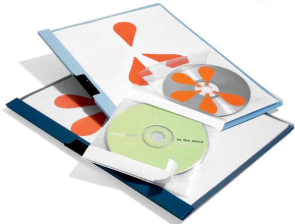 Afbeelding van Durable CD/DVD-hoezen zelfklevend, set van 10 stuks 5210-19 Transparant 1 CD/DVD