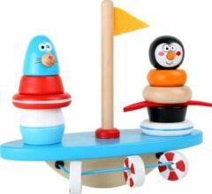 SFC Toys Zuid pool puzzel en balans spel! - pinguin en vrienden - Houten speelgoed vanaf 1 jaar