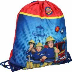 Brandweerman Sam gymtas jongens 44 x 37 cm polyester blauw/rood