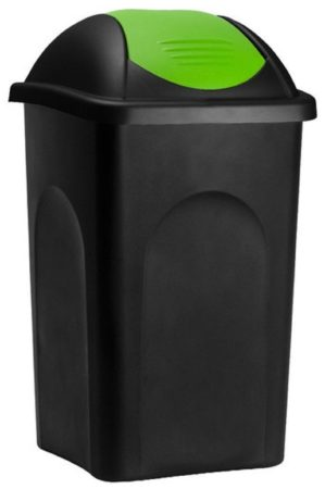 Afbeelding van Groene Somultishop Vuilnisbak, vuilnisemmer, prullenbak 60 L, zwart/groen