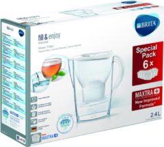 Witte BRITA Waterfilterbundel Marella Cool white + 6 MAXTRA+ filterpatronen