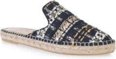 Toni Pons Ona-CC Dames Espadrilles / Muiltjes Zwart Textiel – maat 37