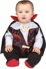 Zwarte VIVING COSTUMES / JUINSA - Vampier graaf pak voor baby's - 7 - 12 maanden - Kinderkostuums