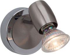 Wandlamp GU10 Energielabel: A+ (A++ - E) 2.5 W LED Brilliant Wesley G54810/77 IJzer, Chroom