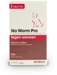 No Worm Pro Kat & Kitten - Anti wormenmiddel - 2 tab Vanaf 0.5 Kg Vanaf 6 Weken