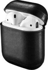 Airpods Case Hoesje voor Apple Airpods 1 / 2 Lederen Case van iCall - Zwart