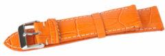 Benson Kalfsleder Oranje 18mm