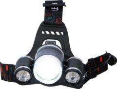 Rode Grundig hoofdlamp - 3 lichtpunten - LED - 200 Lumen