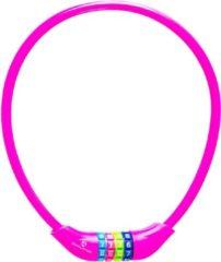 #DoYourFitness #DoYourOutdoor - Fietsslot - »Protector« - Kettingslot - L 70 cm, Ø 25 cm, dikte ca. 3/4 mm - roze