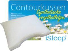 Witte ISleep Contourkussen Vezelbolletjes - 60x70 cm - Wit
