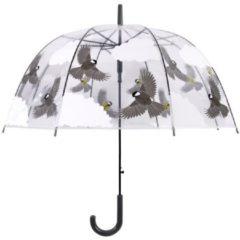 Grijze Esschert Design Paraplu vogels tweezijdig 81 cm TP274