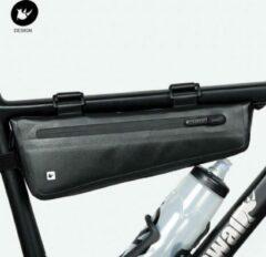Zwarte RHINOWALK Fiets Frametas - Bike Packing - Lichte (200gram), smalle (6cm) & waterdichte tas voor Racefiets of Mountainbike - Medium 2.8L