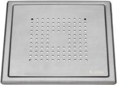 Roestvrijstalen Afvoerrooster Smedbo Outline Met Vierkant Patroon 20 x 20 x 0.55 cm Geborsteld RVS