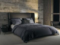 Grijze YELLOW Velvet Touch Dekbedovertrek - Litsjumeaux - 240x200/220 cm - Folkstone Grey