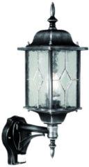 Franssen Verlichting Wexford wandlamp met bewegingsmelder - zwart/zilver