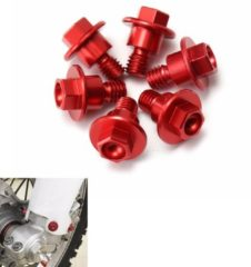 6pcs CNC Red Bolt Fork Guard For Yamaha/Suzuki/KTM/Kawasaki/Honda CRF250/125/450/XR250/400/CR85R