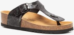 Scapino Hush Puppies teenslippers slangenprint donkerbruin