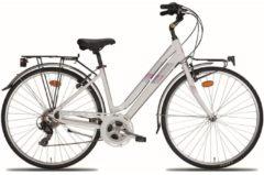 28 Zoll Damen Trekking Fahrrad 21 Gang Montana Bluecity Wham weiß