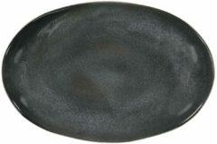 HEMA Schaal Ovaal - 30 Cm - Porto - Reactief Glazuur - Zwart (zwart)