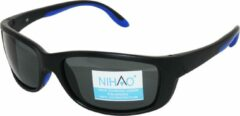 Blauwe Nihao Caspian Sportbril 1.1mm Polarized. TR-90 Ultra-Light frame Anti-Reflect coating.