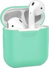 Deckt Bescherm Hoesje Cover voor Apple AirPods Case - Turquoise